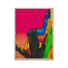 """Oriana Cordero """"Days of Summer"""" Rainbow Abstract KESS Naturals Canvas (Frame not Included)"""