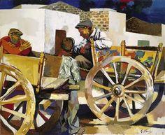 Renato Guttuso  Carts at Bagheria 1956