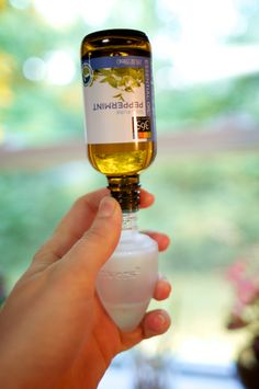 "DIY Scented Plugin With Essential Oils . Plug-in air fresheners are not good for our homes. Like most commercial air ""fresheners"" they contain toxic chemicals that can be dangerous to our health. Diy Cleaning Products, Cleaning Solutions, Cleaning Hacks, Cleaning Supplies, Homemade Products, Georg Christoph Lichtenberg, Just In Case, Just For You, Do It Yourself Organization"