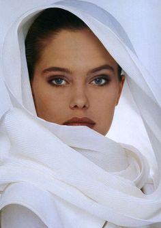 Elle Italia February 1988  Model: Renee Simonsen  Photographer: Hiromasa  http://supermodelobsession.tumblr.com