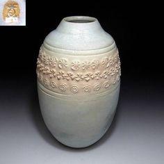 Japanese Vintage Pottery Ware Vase of Kyo Ware , Kyo-yaki  &#20140