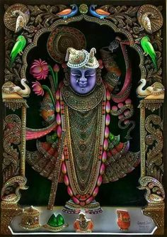 Jai shree nathji Krishna Hindu, Jai Shree Krishna, Lord Krishna Images, Radha Krishna Pictures, Krishna Photos, Hare Krishna, Lord Ganesha Paintings, Ganesha Art, Krishna Painting