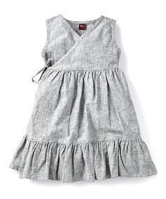 Love this Heritage Blue Linen-Blend Chambray Wrap Dress - Toddler on #zulily! #zulilyfinds