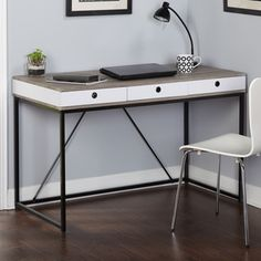 Simple Living Chelsea 3 Drawer Desk By