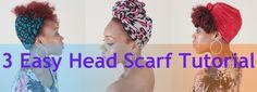 3 Easy Head Scarf Tutorial