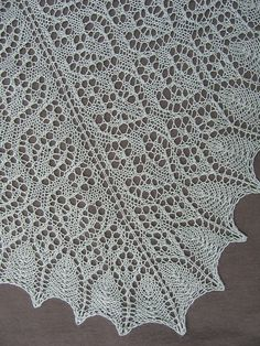 Tulip Season Lace Shawl by Evelyn A. Clark