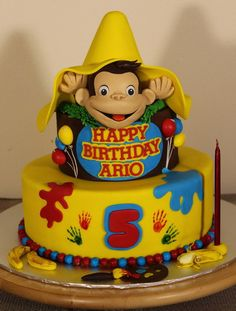 IMG_0650 | Sara Nafisi | Flickr Curious George Cakes, Curious George Party, Curious George Birthday, Baby First Birthday Cake, Monkey Birthday, 1st Birthday Parties, Fireman Sam Cake, 1st Birthday Pictures, 1st Birthdays