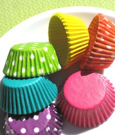Mini Girls Rainbow Cupcake Liners (120). $6.50, via Etsy.