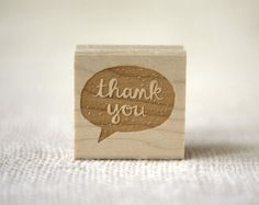 SECONDS SALE 50 OFF  Rubber Stamp  Thank You by witandwhistle, $10.38