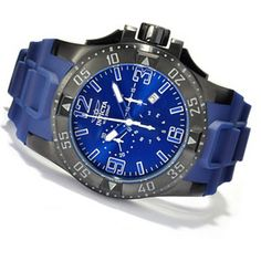 Invicta Mens Excursion Quartz Chronograph Stainless Steel Case Polyurethane Strap Watch