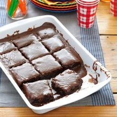 """""""CokeCola Cake"""" from """"the heart of Coca-Cola Country"""" in Georgia. Sounds a lot like Texas sheet cake! Great for tailgates & game day parties."""