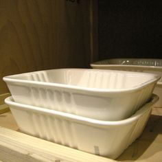 Plat à four forme barquette en porcelaine blanche Seletti