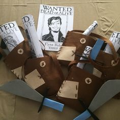 Flynn Rider swords and satchels for the ruffians!!! #DIY #handmade #RapunzelParty