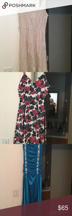 Beautiful Dresses & Shoes Beautiful dresses only worn once! Excellent condition & shape! Shoes $25 each Dresses