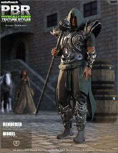 OOT PBR Texture Styles for Arcane Summoner | Clothing for Poser and Daz Studio