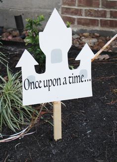 princess party ideas; princess party welcome sign, once upon a time; princess…