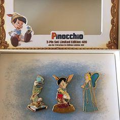 Pinocchio Limited Edition 400 Pin Set [free ship] Disney Pins For Sale, Disney Trading Pins, Walt Disney Studios, Pinocchio, Pin And Patches, Tim Burton, Disney Magic, Dreamworks, Peter Pan