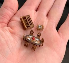 Dollhouse Miniatures, Class Ring, Rings, Jewelry, Jewlery, Jewerly, Doll House Miniatures, Ring, Schmuck