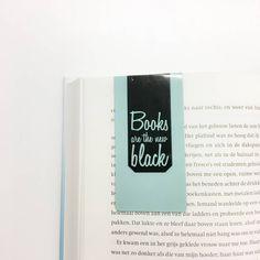 Magnetische boekenlegger: Books are the new black - Spread the book love