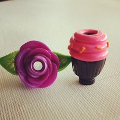 Purple rose and pink and black cupcake #VaporHub [ Vapor-Hub.com ]