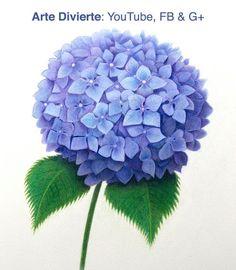 Cómo dibujar una hortencia con lápices de colores - Como dibujar una flor púrpura #arte #dibujo #Artedivierte #florpúrura #hortencia #lápicesdecolores #libro #LeonardoPereznieto Haz clíck aquí para ver mi libro: http://www.artistleonardo.com/#!ebooks/cwpc