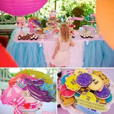 Pin for Later: 44 Bright and Bold Ways to Celebrate Spring Birthdays An Alice in Wonderland Birthday Party