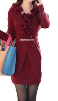 Elegant Office Lady Slim Falbala Knitted Cotton Long Sleeve Dress Sz M L XL Fengbay http://www.amazon.com/dp/B00HSCAV1G/ref=cm_sw_r_pi_dp_87Dpub1JRT5C6