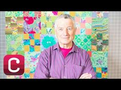 Kaffe Fassett mocks up a layout on his trademark design wall, working with prints in different scales to achieve a version of his classic pattern in a leafy, misty spring mood. Composition, Rowan Yarn, Fabric Design, Quilt Design, Fall Quilts, Layout, My Sewing Room, Mood, Quilt Tutorials