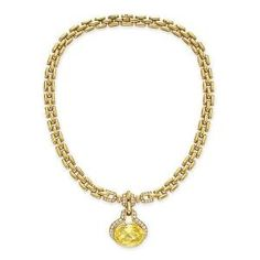 Gold,diamond and yellow sapphire necklace Cartier by meghan
