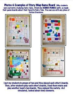 FREEBIE-Students create a game board centered around a story they've read.