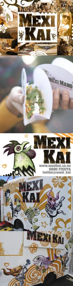 Mexi Kai - The branding of a New Zealand-based Mexican-Pacific Street Food Truck. Via BEHANCE.NET