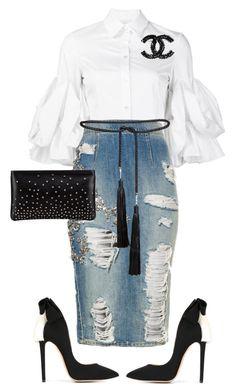 Youth Sunday!!! by cogic-fashion on Polyvore featuring polyvore fashion style Christian Siriano Aleksander Siradekian Christian Louboutin Louis Vuitton Rosetta Getty clothing