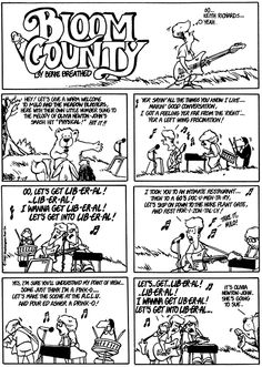 Hunting liberals and comic strip