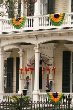 New Orleans Garden District for Mardi Gras