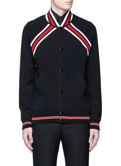 GIVENCHY Contrast Stripe Teddy Jacket. #givenchy #cloth #jacket