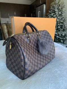 b69e3ad4ff Details about Authentic Louis Vuitton LV Speedy 35 Damier Ebene Bag Handbag  A/dustbag and Box. Borse Louis Vuitton