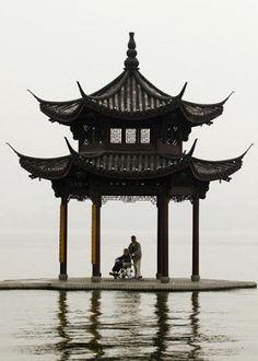 pagoda silhouette.