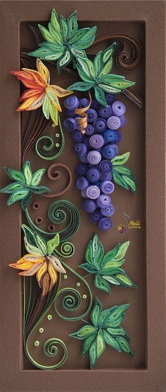 neli: Quilling panel _ 6 I absolutely love this! Might have to give quilling a try. Quilled Paper Art, Paper Quilling Designs, Quilling Paper Craft, Paper Crafts, 3d Paper, Neli Quilling, Quilling Ideas, Paper Art Design, Quilled Creations