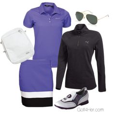 Ladies Golf OOTD: Blue Iris II featuring Abacus and Puma available at Golf4Her.com