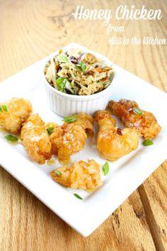 Honey Chicken Recipe from Miss in the Kitchen