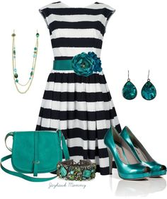 """Comfort in Stripes & Turquoise"""