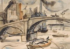 """Chelsea"" by Christopher Wood, 1925 (watercolour and pencil)"