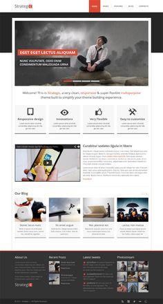 Strategic, WordPress Responsive Multipurpose Theme by Premium Themes, via Behance
