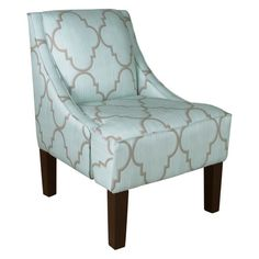 Skyline Furniture Swoop Arm Chair - Spring Breeze Mineral Upholstered  Accent Chairs 9a13c9ba1a768