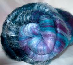 104g smooth hand carded batts. Merino blues purple by YummyYarnsUK, £13.99