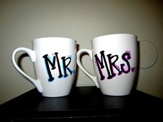 Mr. & Mrs. Coffee Mugs