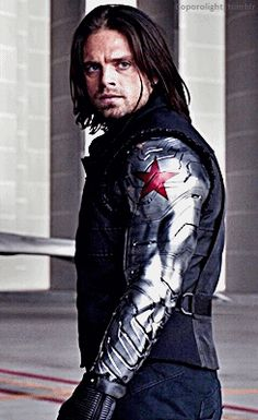 Sebastian Stan as Bucky Barnes AKA The Winter Soldier. Bucky Barnes, Ben Barnes, Sebastian Stan, Marvel Characters, Marvel Movies, Captain America And Bucky, Bucky And Steve, Spiderman, Bae