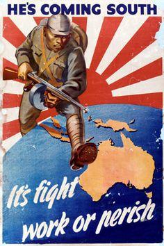 A classic Australian poster from World War II.