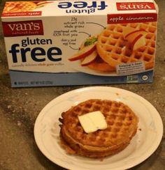 Not bad, not great - Van's Gluten Free Apple Cinnamon Waffles.