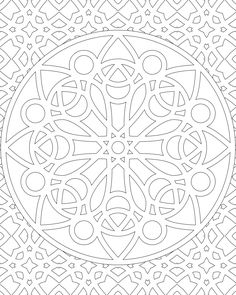 Don't Eat the Paste: 11-27-11 Mandala design to color